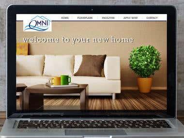 OMNI APARTMENTS Desktop Mockup (front page)