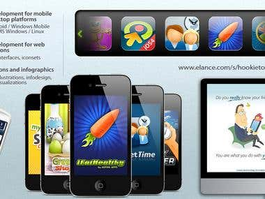 Mobile UI graphics iPhone\iOS, Android, Windows Mobile, WP7