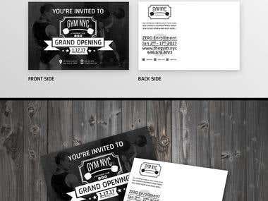Print ready POSTCARD design.