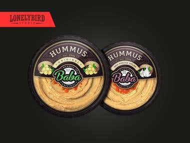 Logo & label designs for a hummus brand Baba