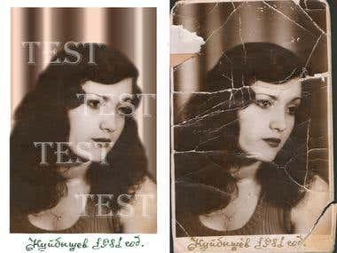 Востановление фото - Restoring photos