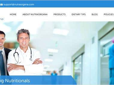 Nutra Organa - WordPress WooCommerce project
