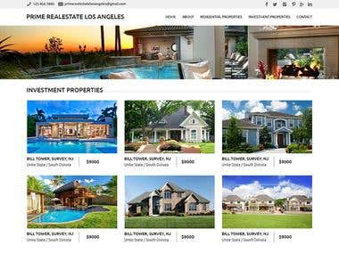 Prime Realestate Los Angeles - WordPress Project