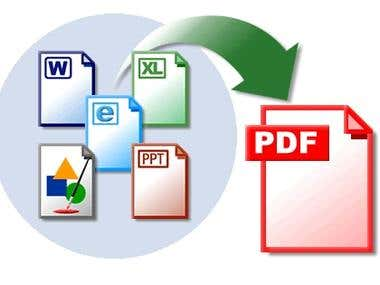 Convert pdf to Excel or any format