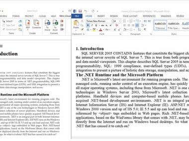 E-Book - PDF to Word conversion