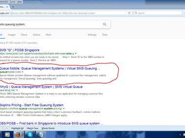 First Page on Google.com USA for SMS Queuing System Keyword