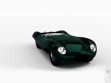 Jaguar Modeling and rendering