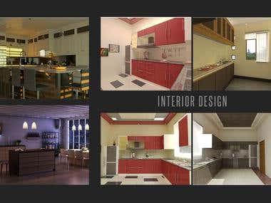 3D Interior rendering (Kitchen)