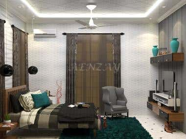 Feel the warmth of a living Bedroom