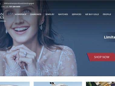 Woocommerce Wordpress website - Madison Jewellers