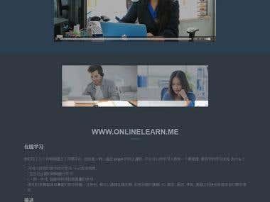 Online course web site