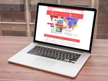 "E-commerce & web.dev. ""MOBILE SHOP"""