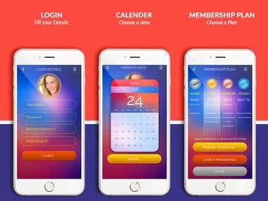 Imaginland App UI UX