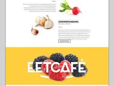 design one page crudo vegan website