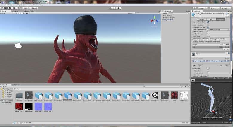 original horror game character | Freelancer