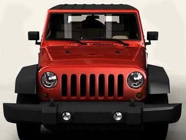 3D Model of Car/Jeep