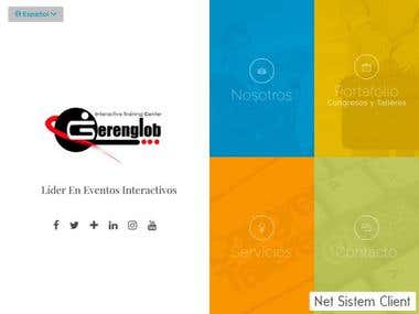 Sitio web corporativa para Gerenglob, C.A