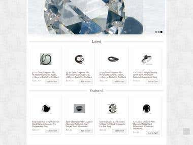 E-commerce site for jewelry and diamonds