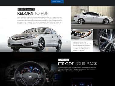 Acura website mockup