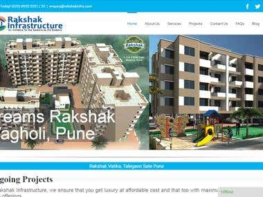 Website for Rakshak Infrastructure