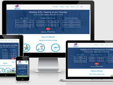 On Demand Laundry Services Website