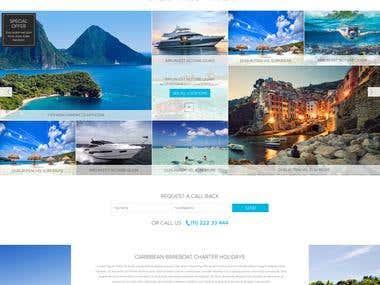 Website mockup for Sailing Holidays
