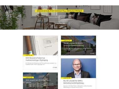 Website mockup for real estate company