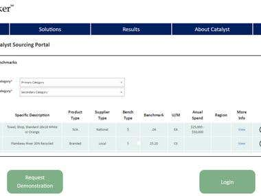 CUstom Supplier tracker portal