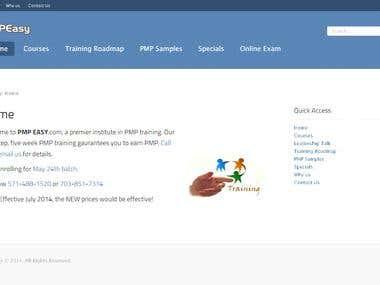 Training and Online Examination