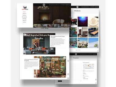 INTERIO WORLDS - WordPress Website