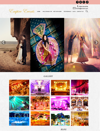 Web & Mobile Design Wedding Site