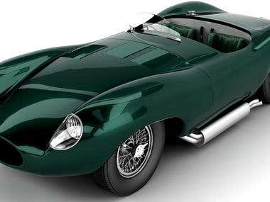 Jaguar XKC high poly model