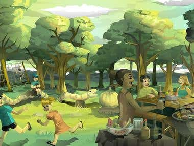 Orchard Scene