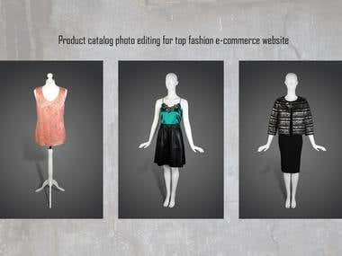 Product photo editing for fashion e-commerce website