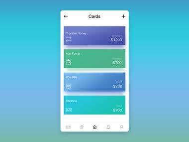 E-wallet app designa