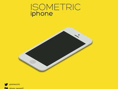 iphone - isometric illustration