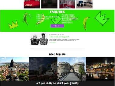 Wordpress Website - PopArtHostel