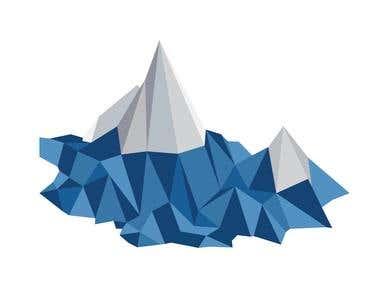 lowpoly mountain - illustration