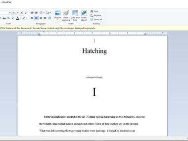 Hatching- An Ebook (Fiction)