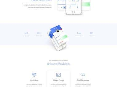 Demo-2 App Landing page