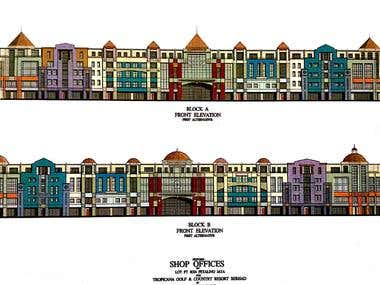 2D rendering for Tropicana Office Houses