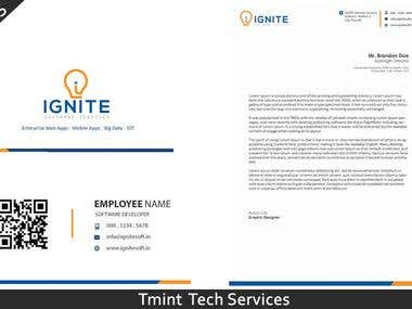 letter head and business card