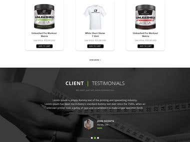Shopify Supplement Store Design