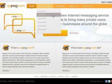 Appug website layout