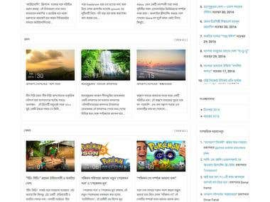 Live blog website.