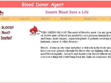 Online Blood Donation System documentation & system