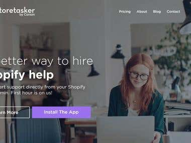 Re-design of Shopify job marketplace home page