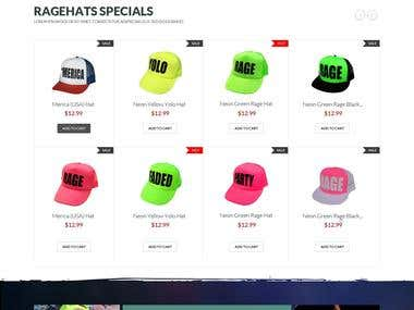 Custom Hats eCommerce Website Design