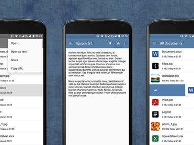 Documents Manager App