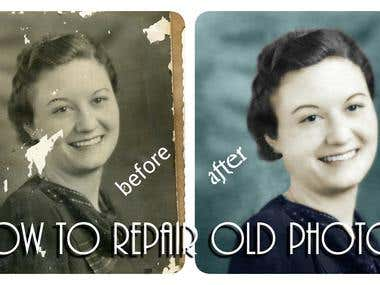 || Restore-Old-Photos-Photo-Editing ||